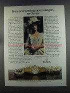 1982 Rolex Lady-Datejust Watch Ad - Kiri Te Kanawa