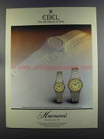 1982 Ebel Watches Ad