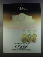 1982 Ebel Mini Watch Ad - The Architects of Time