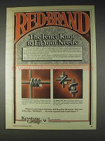 1982 Keystone Red Brand Fence Ad - Monarch, Square Deal