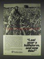 1982 Southern States Crop Insurance Ad - A Hailstorm