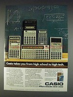 1982 Casio Calculator Ad - FX-900 FX-3600P FX-702P