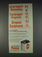 1982 Yuasa Motorcycle Battery Ad - Original Equipment