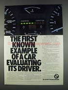 1982 BMW Cars Ad - Evaluating Its Driver