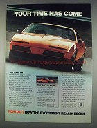 1982 Pontiac Trans Am Ad - Your Time Has Come