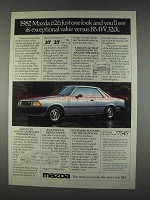 1982 Mazda 626 Sport Coupe Ad - Just One Look