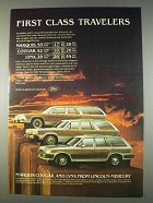 1982 Mercury Marquis, Cougar and Lynx Ad