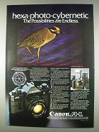 1982 Canon A-1 Camera Ad - Hexa-Photo-Cybernetic