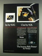 1982 Vivitar Instant Slide Printer Ad - In by 9:00