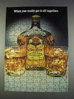 1982 Seagram's Crown Royal Ad - Get it All Together