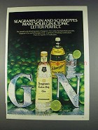 1982 Seagram's Extra Dry Gin Ad - Schweppes Tonic