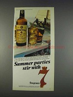 1982 Seagram's Seven Crown Whiskey Ad - Summer Parties