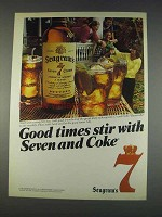 1982 Seagram's Seven Crown Whiskey Ad - Coke