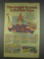1982 Bubble Yum Bubble Gum Ad - The Magic In