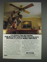 1982 Hunter Fan Ad - The Reasons For Buying