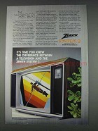 1982 Zenith SY1963W Television Ad - It's Time