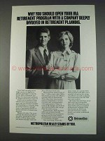 1982 Metropolitan Life Insurance Ad - IRA Retirement