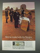 1982 Citicorp Travelers Checks Ad - Traded With Navajos