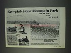 1982 Stone Mountain Park Georgia Ad - For an Hour