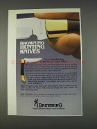 1982 Browning Folding Knife Ad - Hunting Knives