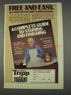 1982 Carver Tripp Stains Ad - Harry Morgan