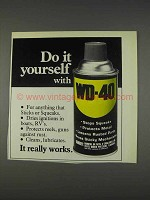 1982 WD-40 Oil Ad - Do It Yourself With