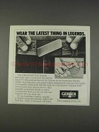 1982 Gerber Touche Belt Buckle Knife Ad - Latest Thing