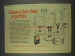 1982 Cascade Detergent Ad - Glasses Shine at Parties