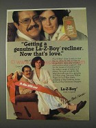1982 La-Z-Boy Recliner Ad - Alex Karres and Susan Clark