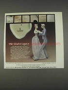 1982 Lladro Anniversary Waltz Porcelain Ad - The Legacy
