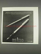 1982 Sheaffer Pens Ad - Jewelry for Writing
