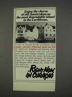 1982 Curacao Tourist Board Ad - Charm of Old Amsterdam