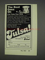 1982 Tulsa Oklahoma Tourism Ad - The Beat Goes On