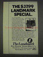 1982 Best Western The Landmark Hotel Ad - The Special