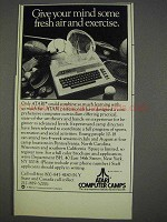 1982 Atari Computer Camps Ad - Give Mind Exercise