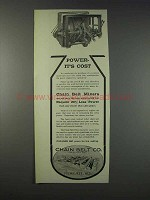 1910 Chain Belt Mixers Ad - Power It's Cost