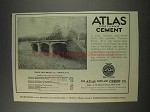 1910 Atlas Portland Cement Advertisement
