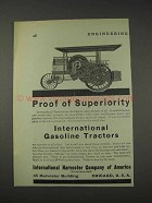 1910 International Harvester Gasoline Tractors Ad