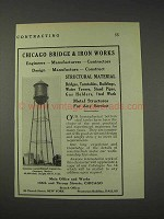 1910 Chicago Bridge & Iron Works Advertisement
