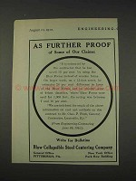 1910 Blaw Collapsible Steel Centering Co. Ad - Proof