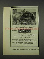 1910 Blaw Collapsible Steel Centering Ad - Harlem Creek