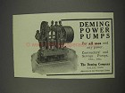 1910 Deming Power Pumps Ad