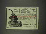 1910 Barnes Portable Frictionless Diaphragm Pump Ad