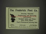 1910 Frederick Post Engineering & Surveying Ad