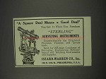1910 Iszard-Warren Sterling Surveying Instruments Ad - Square Deal