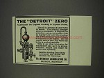 1910 The Detroit Zero Ad - A Lubricator for Engines