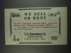 1911 U.S. Equipment Co. Ad - Sell or Rent