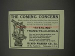 1911 Iszard-Warren Sterling Transits and Levels Ad