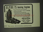 1911 Clyde Iron Works Ad - High Grade Hoisting Engines