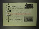 1913 United States Equipment Co. Ad - Contractors